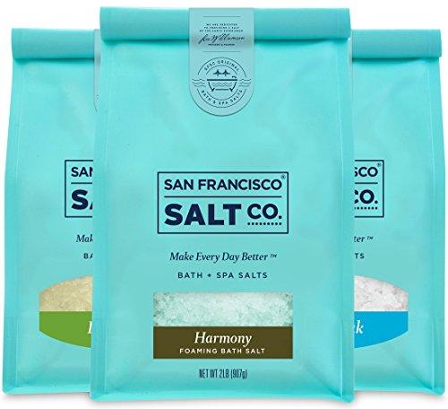 (Therapeutic Luxury Bag Bundle - Detox Soak, Muscle Soak, Harmony Foaming Bath Salts (2lb bag of ea))