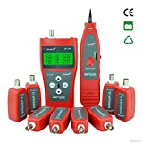 Noyafa D3IN0005 NF-388 Multipurpose Network LAN Phone Audio Cable Tester with 8 Far-end Passive Test Jacks