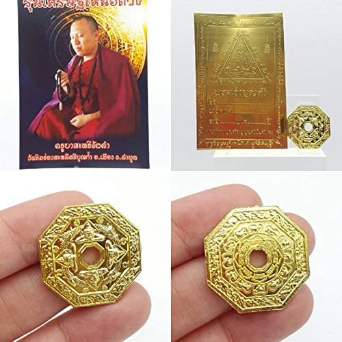 Thai amulets Rich above Faith Super lucky coin bring wealth Kruba Sareeaikhum Success in love and life, ward away obstacle, bring up downfall faith Magic Amulets
