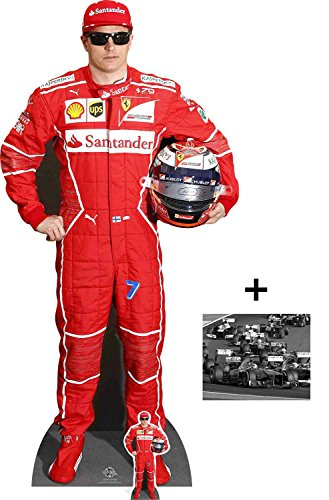 Fan Pack - K Raikkonen Motor Racing Driver Cardboard Cutout / Standup / Standee - Includes 8x10 Star Photo