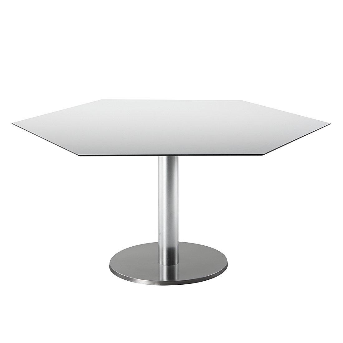 Best 43591359 Tisch Turin Sechseckig 120 X 140 Cm Edelstahl Look