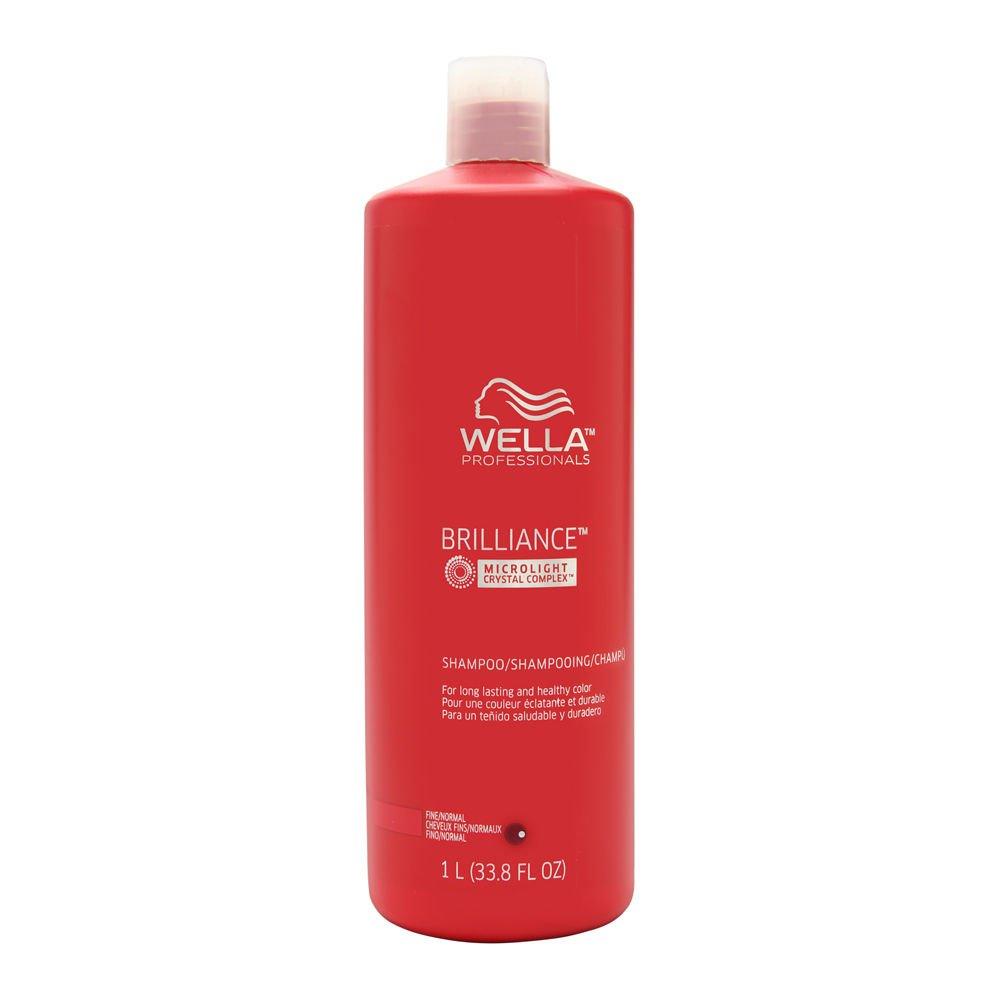 Wella Brilliance Shampoo for Fine Hair 33.8 oz (1 Liter) by Wella