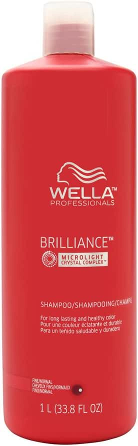 Wella SP Brilliance Shampoo For Fine to Normal Colored Hair, 1014 ml