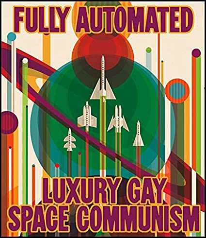 36d0ae46 Image Unavailable. Image not available for. Color: Fridge Magnet Fully  Automated Luxury Gay Space Communism ...
