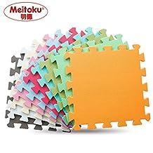 "Meitoku Solid EVA foam puzzle mat /Waterproof Interlocking Exercise Tiles Each Tiles 12""x12"" 3/8""Thick"