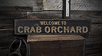 Welcome to CRAB ORCHARD, KENTUCKY - Rustic Hand-Made Vintage US City Wooden Sign