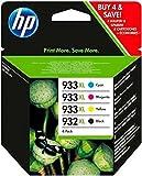 #6: HP 932XL Black/933XL Cyan/Magenta/Yellow 4 Pack Printer Inkjet Cartridges Model C2P42AE