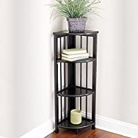 3-Tier Folding Corner Bookcase - Black - Improvements