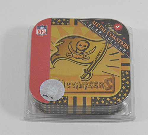 4-tampa-bay-buccaneers-metal-officially-licensed-drink-coasters