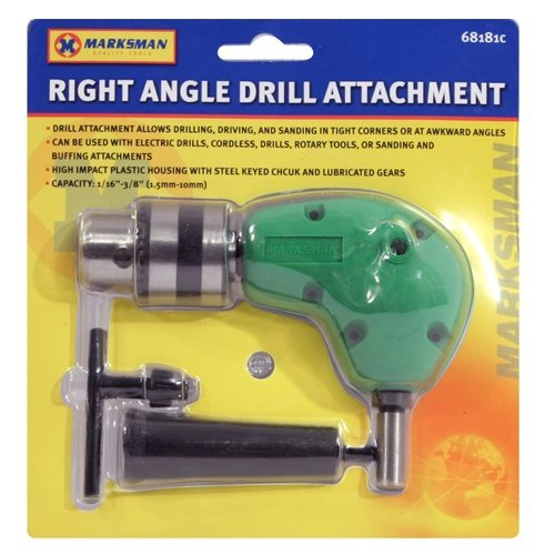 RIGHT ANGLE DRILL ATTACHMENT CHUCK KEY ADAPTER 3/8' DIY TOOL ACCESSORY CORDLESS