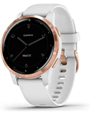 Garmin Vívoactive 4S, Smaller-Sized GPS Smartwatch, Features Music, Body Energy Monitoring, Animated Workouts, Pulse Ox Sensors and MORE, White/Rose Gold
