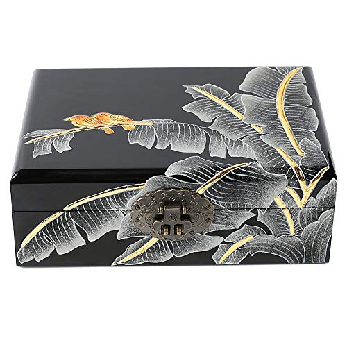 Dear life Classical Hand-Painted Wooden Push Light Lacquer Jewelry BoxLacquer Wood JewelryStorage - Lacquerware Boxes