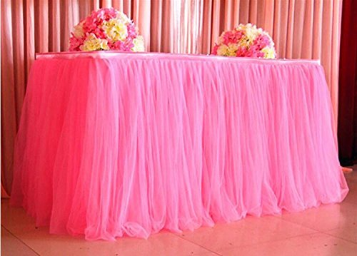 Hot Sale! Hongxin Many Tulle Tutu Table Skirt Tulle Tableware For Wedding Decoration Baby Shower Party Wedding Table Skirting Home Textile Multicolored -