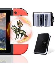 NFC-kort för The Legend of Zelda Breath of The Wild Botw Switch Wii U med dropartiklar på baksidan av kortet, 24 st med korthållare (ZLD-standardstorlek-02)