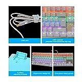 AULA Mechanical Gaming Keyboard LED Backlit Gaming Keyboard with Blue Switch (Gold)