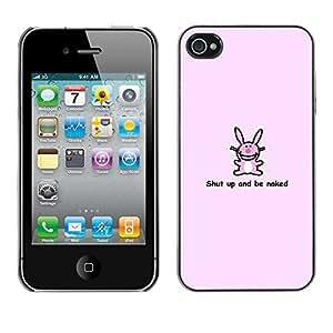 EJOY---Cubierta de la caja de protección la piel dura para el / iPhone 4 / 4S / --Conejito rosado lindo divertido