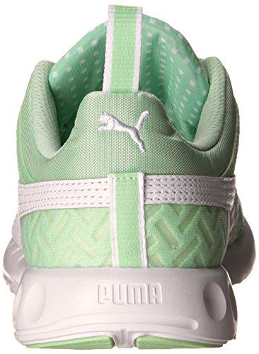 PUMA Women's Carson Runner Pwrcool Sneaker, Patina Green/White, 6 B US