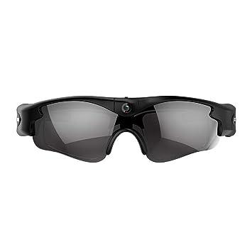 melyseu Gafas con cámara Oculta, HD 720p Spy CAM Gafas de Sol con DVR: Amazon.es: Electrónica