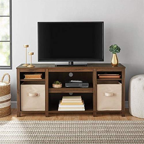 - Mainstay Parsons Cubby TV Stand Holds Up to 50