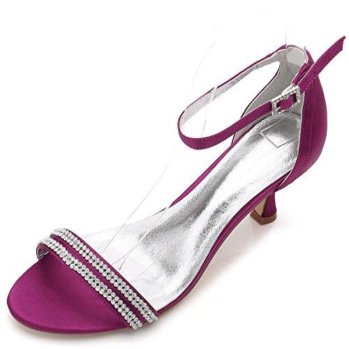 L@YC Women's Wedding Shoes F17061-61 Comfort Rhinestone Basic Pump Satin Platform Wedding Shoes Custom Purple DGQFppcNJ