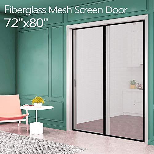 Fiberglass Magnetic Screen Mesh for French Door [Upgraded Vesion 72