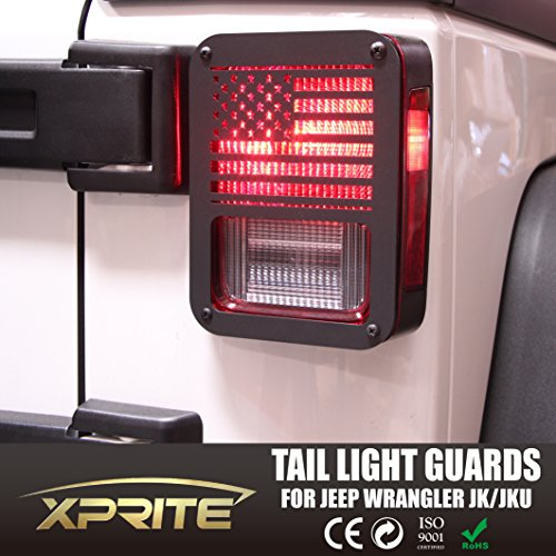 Xprite 2007 - 2017 Jeep Wrangler JK Unlimited Black Light Guard
