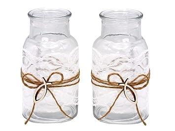 Amazon De Zauberdeko 2 Vasen Kommunion Konfirmation Tischdekoration