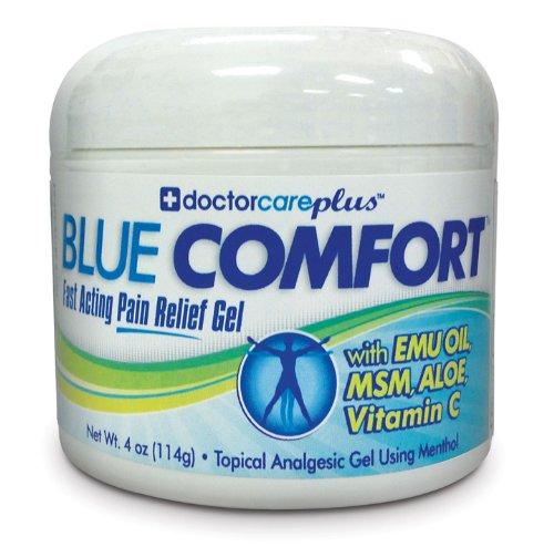 ★★★★★ bleu super confort Pain Relief Cream W / huile d'émeu 4 oz, anti-inflammatoire des douleurs articulaires composés & Deep pénétrants pour les personnes souffrant de l'arthrite, des douleurs musculaires, canal carpien, mixte, chronique, tendinite, fas