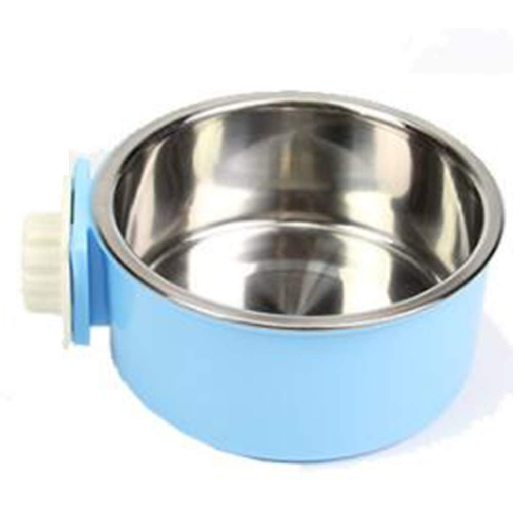 L Stainless Steel Hanging Dog Bowl Cat Bowl Can Be Fixed Cage Stainless Steel Pet Bowl (Size   L)