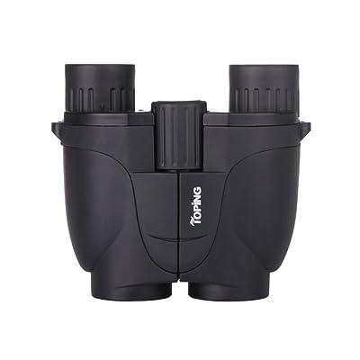 MPEN 10X Mini Jumelles Compact, poche pliante étanche télescope binoculaire léger, w/Carry Case pour adulte, enfants, enfants, observation des oiseaux (Couleur : Noir)