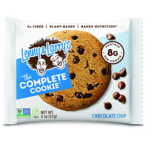 Lenny & Larry's The Complete Cookie Snack Size, Chocolate Chip, Soft Baked, 8g Plant Protein, Vegan, Non-GMO 2 Ounce Cookie (Pack of 12) 1