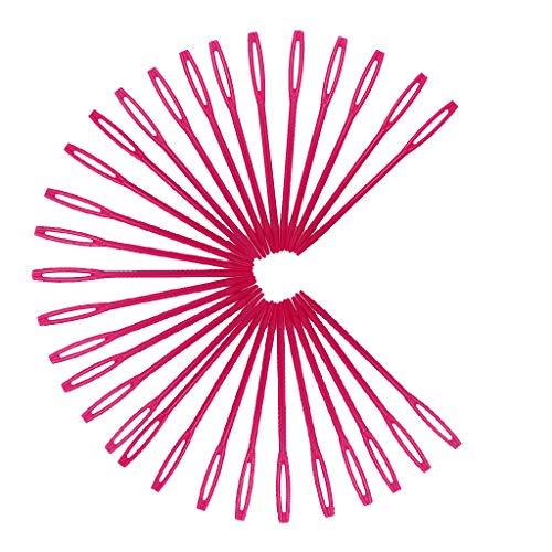 FLAMEER クロスステッチ ウール プラスチック製 縫い針 赤い 厚地縫い用針 レザー クラフト工具 約7mmの商品画像