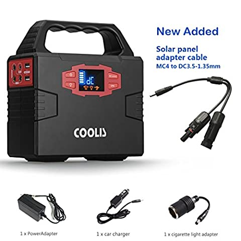 Coolis 150Wh Portable Power Inverter Generator, with Silent 110V AC, 12V DC and USB Output, 40800mAh Lithium Polymer (Power Gas Generator)