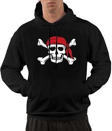 Zip Up Hoodie Pirate Old Flag Hooded Sweatshirt for Men