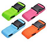 Best Luggage Straps - WeBravery Luggage Straps Suitcase Belt Travel Accessories (4Pack-Multicolor) Review