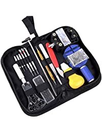 147 PCS Watch Repair Tool Kit Case Opener Spring Bar Tool Set Bonus A Hammer