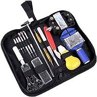 Caja con Kit de herramientas para reparar relojes Ohuhu profesional; 13 piezas Reparación de relojes Kit de herramientas. Un Martillo de tonificación