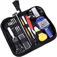 Ohuhu Professional 147 PCS Watch Repair Tool Kit, Watch Case Opener Spring Bar Tool Set Bonus A...