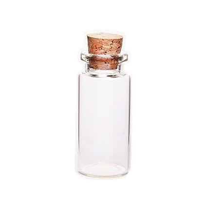 Haifly Juego de Botes de Cristal vacíos con Tapones de Corcho para Botellas de Deseo,
