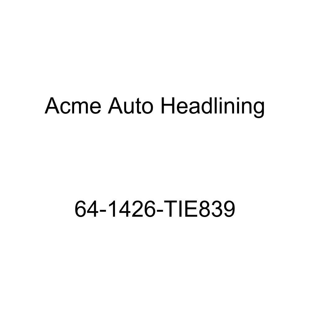 Chevrolet Corvair 4 Door Sedan 5 Bow Acme Auto Headlining 64-1426-TIE839 Metallic Blue Replacement Headliner