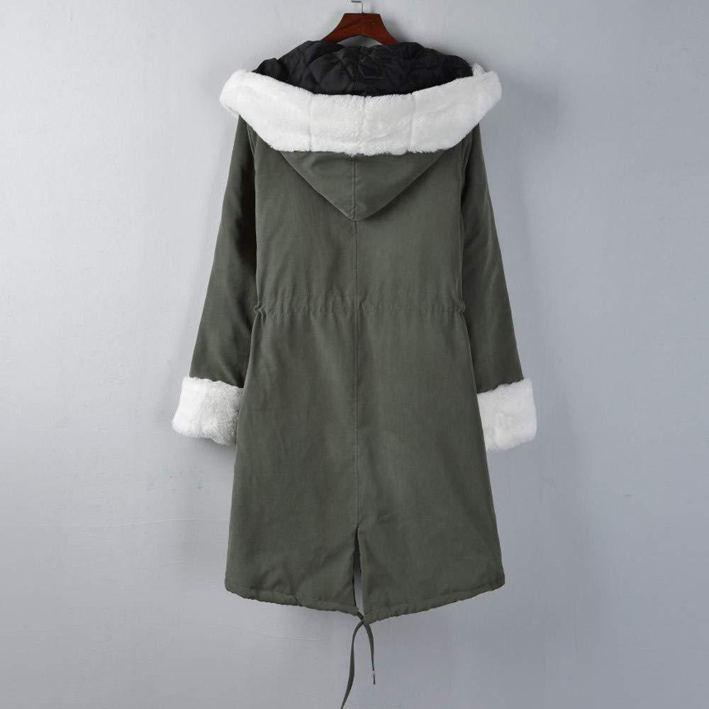 Amazon.com: Jiayit Womens Winter Coats Hoodies Faux Fur Coat ...