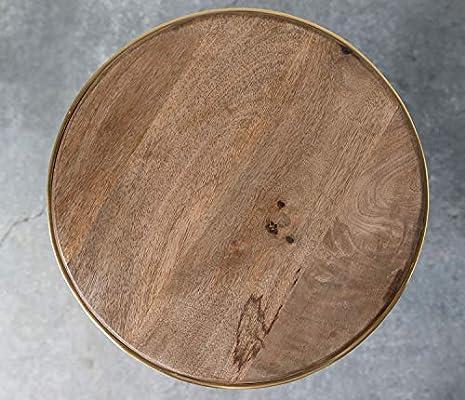 Brown Creative Co-op Handmade Mango Wood Metal Stand Fishing ...