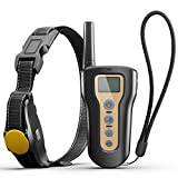 PETDIARY New Safe Shock Dog Training Collar with Long Range Remote, IPX7 Waterproof and Rechargeable, Training 2 Dogs with Vibration/Beep/Static Shock for Small Medium and Large Dogs