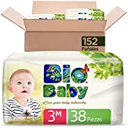 Bio Baby Pañales, Talla Mediana/3, 152 Pañales