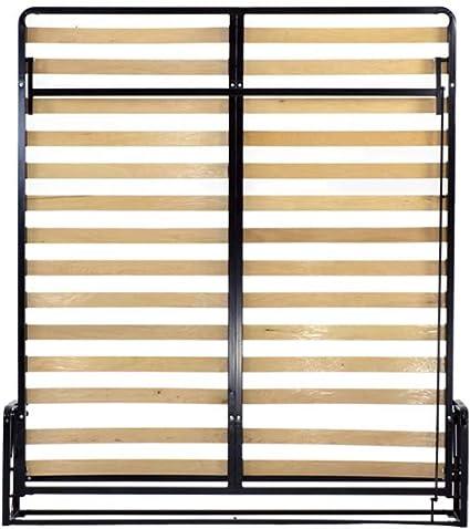 Wallbedking Camas verticales de pared (cama clásica Murphy, cama extraíble, cama plegable, cama oculta) (Super King de 180 cm x 200 cm)