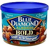 BOLD Salt & Vinegar Almonds - case of twelve 6oz cans
