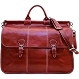 Vaggo Duffle Travel Bag in Red Full Grain Leather