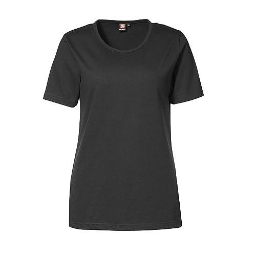 ID - Camiseta de Manga Corta y Cuello Redondo con Ajustado Medio Modelo Pro Wear Mujer señora