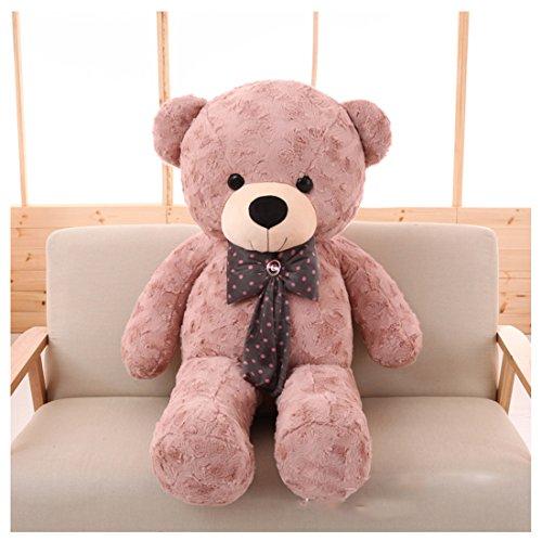 Soft 100% Pp Cotton Toy Giant 100cm Big Cute Dusty Blush Plush Teddy Bear Huge by MsJune ()