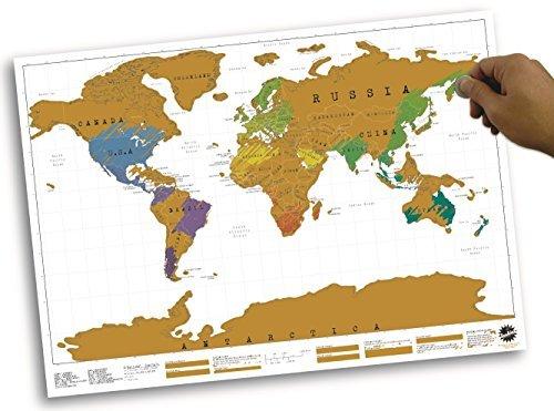 Scratch Map - Weltkarte mit Rubbelfeldern * Landkarte, Geschenk, Geschenkidee, Geburtstagsgeschenk, Weihnachtgeschenk für Reisende by DFP